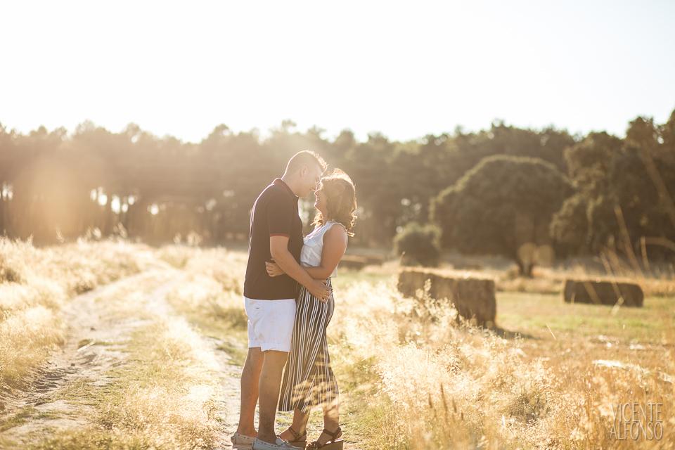 Fotografía de pareja al atardecer