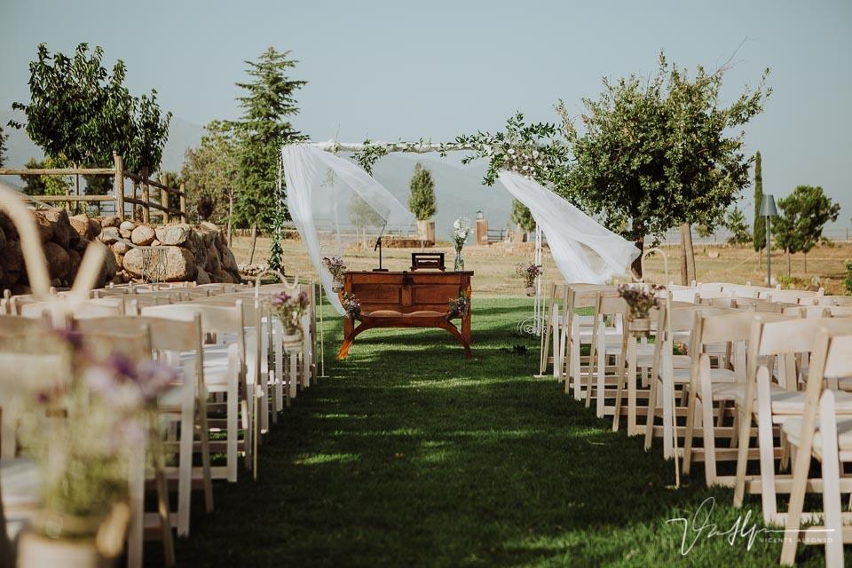 Detalle ceremonia Civil en la Quinta de la Cerca