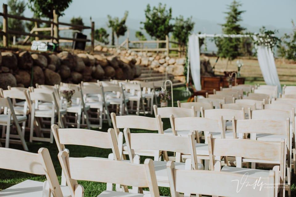 Detalle ceremonia Civil en la Quinta de la Cerca en Jarandilla de la Vera