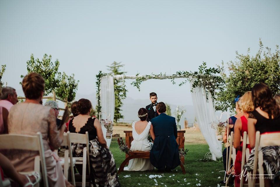 Vistas traseras en la ceremonia en la Quinta de la Cerca
