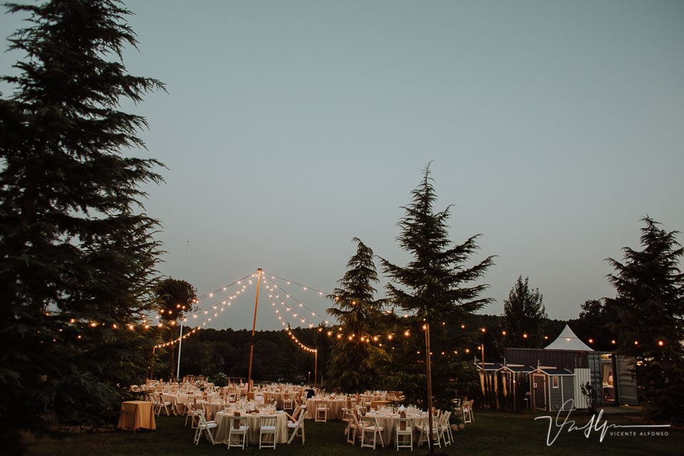 Detalle espectacular banquete en la Quinta de la Cerca