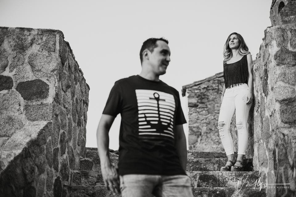 Reportaje de pareja en blanco y negro