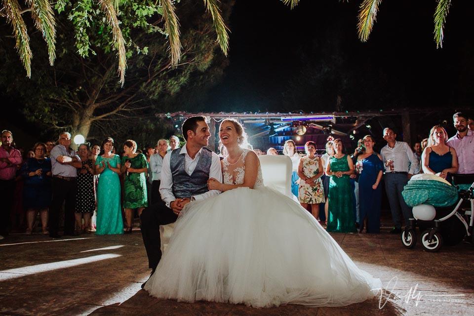 Momento video emotivo en la boda en los Aperos en Navalmoral