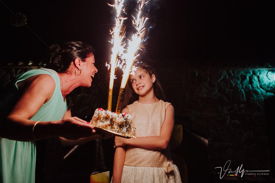 Regalo de cumpleaños en la boda en Tietar