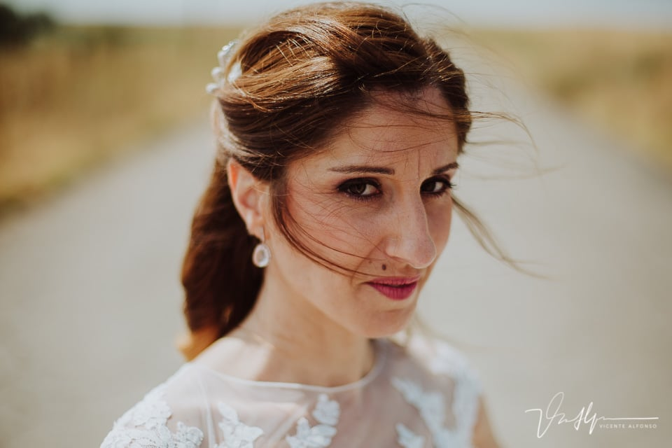 retrato de novia en la boda