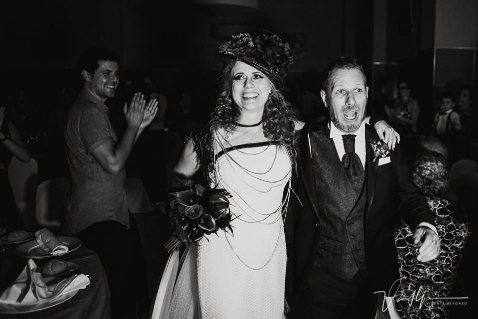 momento entrada al banquete en la boda