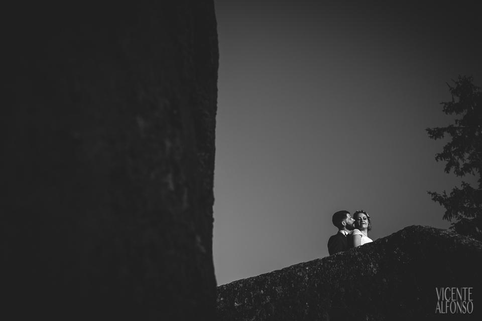 Novios en la torre del Parador de Jarandilla de la Vera