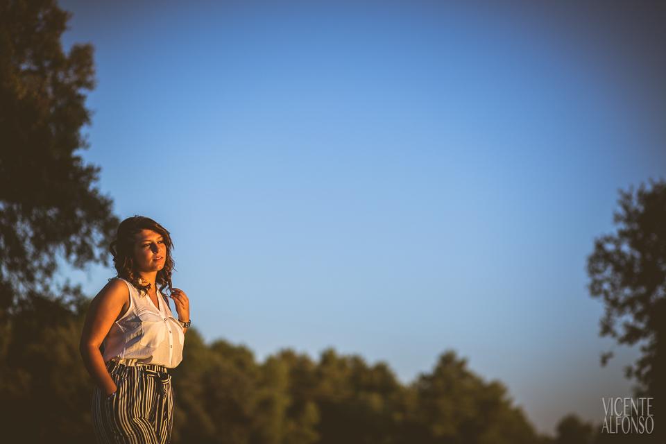 Retrato novia en reportaje preboda