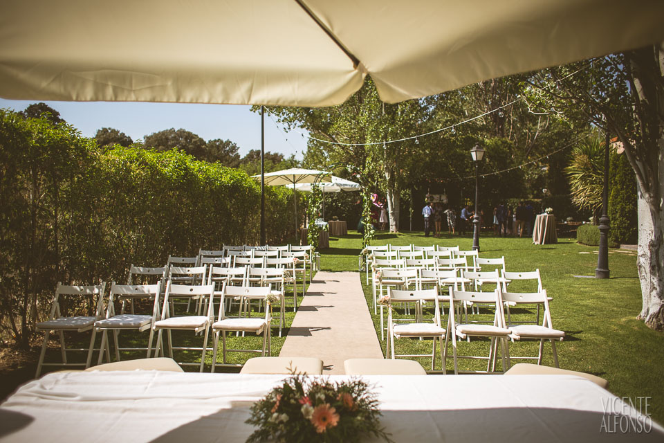 Detalle ceremonia civil en el restaurante Normandie Ondarreta
