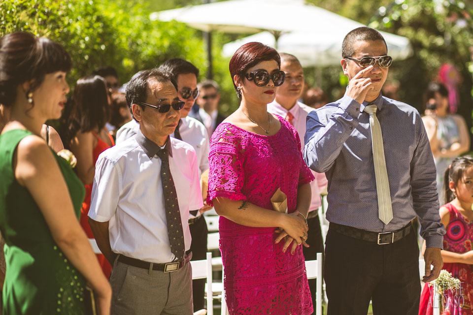 Familia de Vietnam en la ceremonia en Normandie Ondarreta