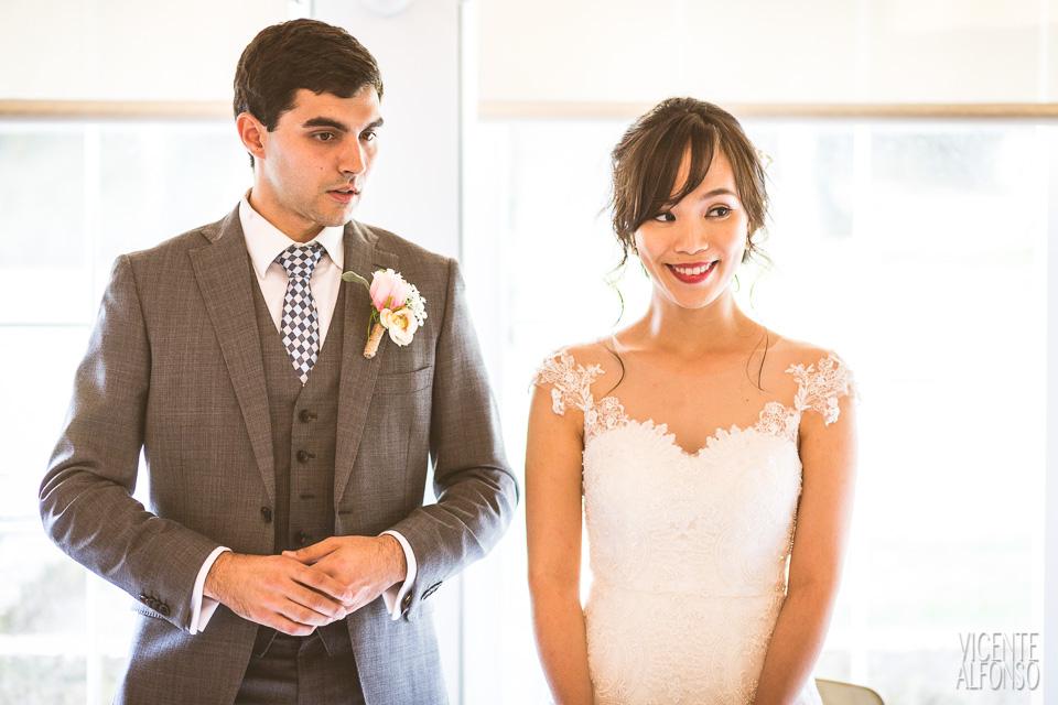 Retrato novios en los discursos de su boda