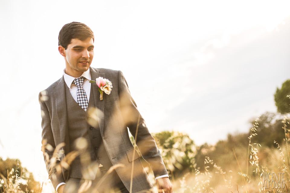 Retrato novio en el campo