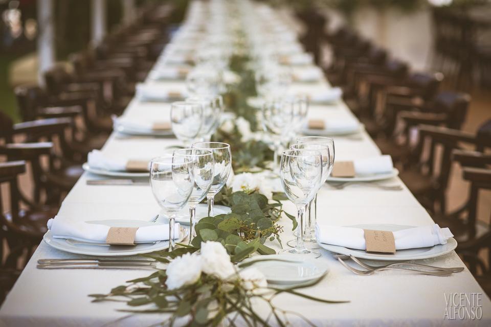 Detalles mesa boda Noruega