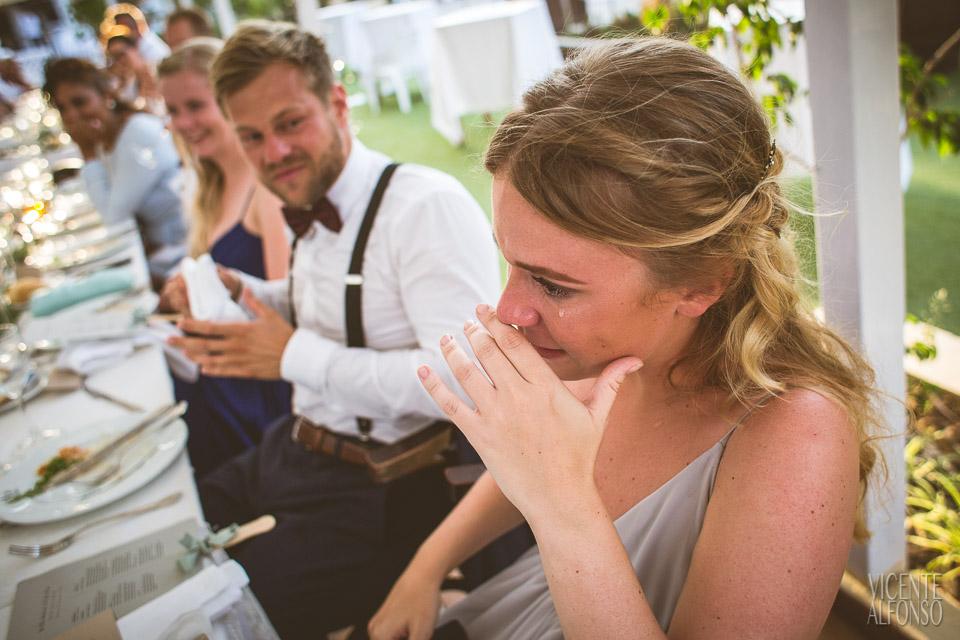 Detalle lágrima hermana de la novia