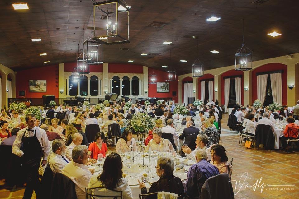 Detalle general banquete boda