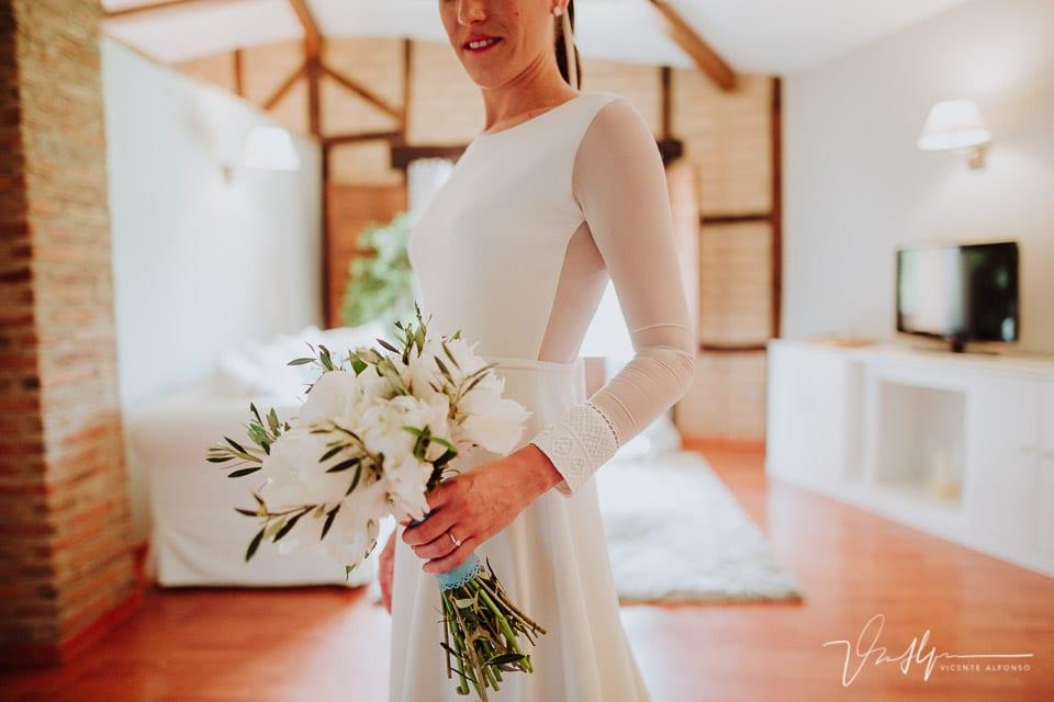 Detalle manga vestido novia Sophie et Voilá