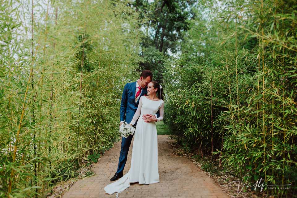 Reportaje de boda de pareja en el ruta imperial Gastro Eventos por el fotógrafo Vicente Alfonso
