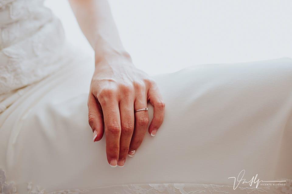 Detalle mano de la novia