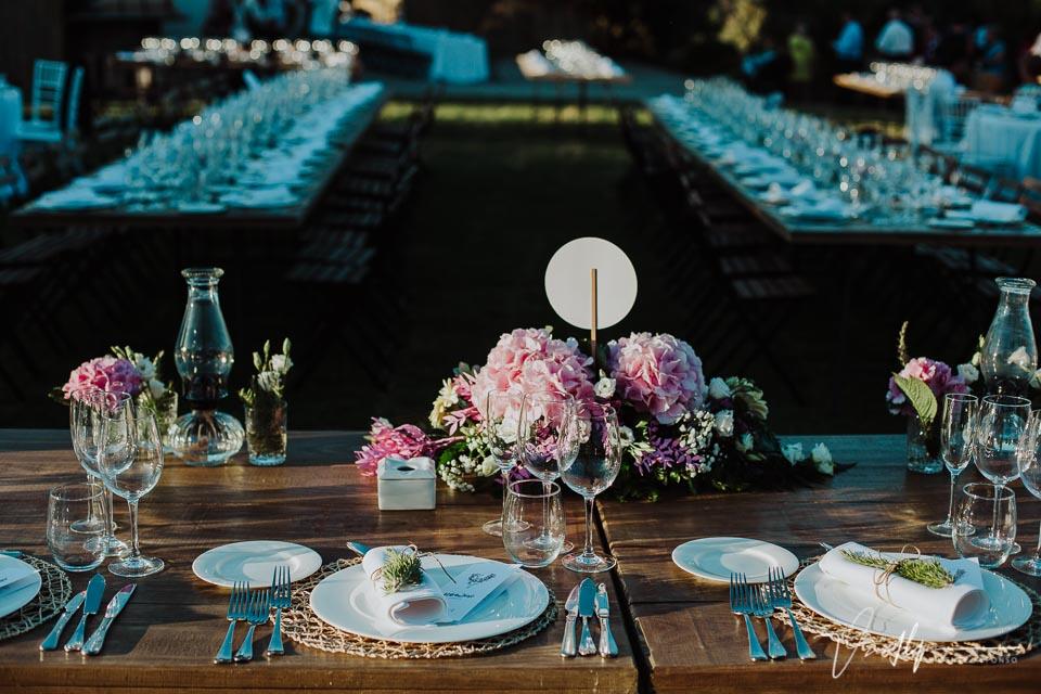Detalle cubertería del Catering en una boda