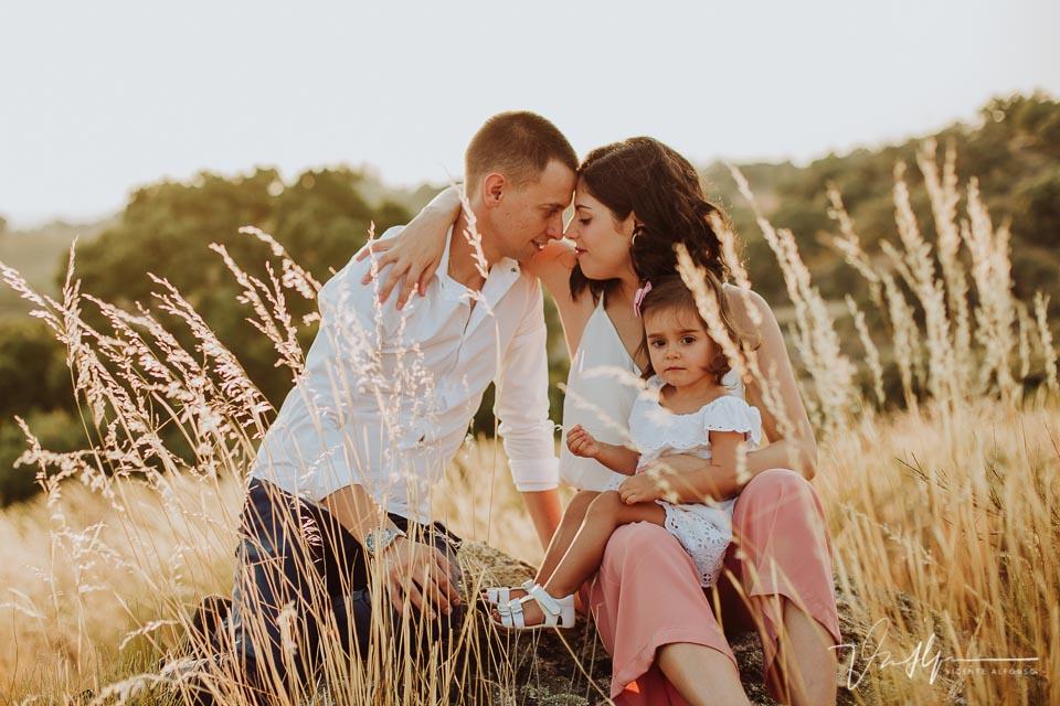 momento cariñoso familiar con su hija