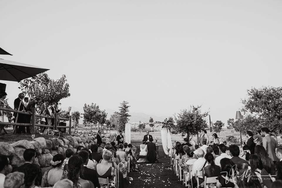 Vista trasera en blanco y negro de la Quinta de la Cerca