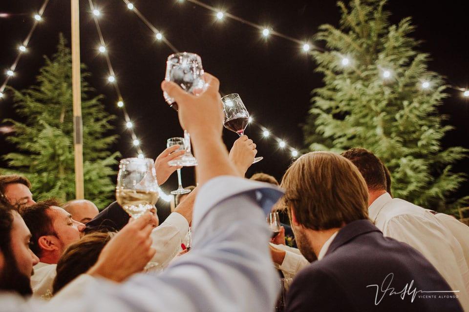 Brindis de boda en la Quinta de la Cerca