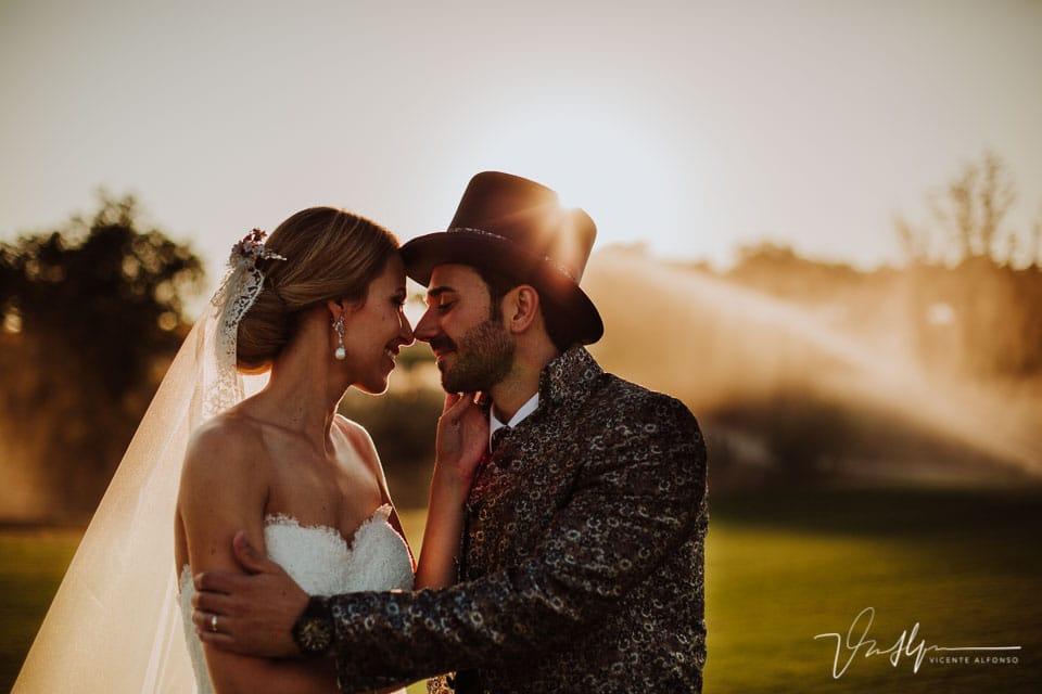Reportaje de boda en un campo de golf