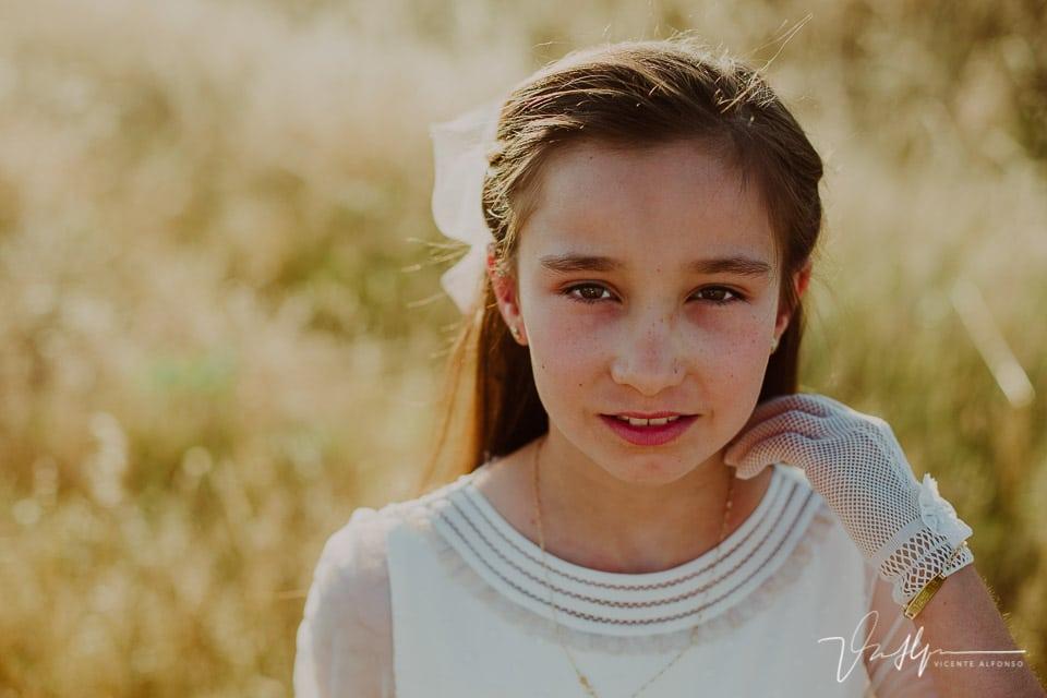Retrato niña comunión en Navalmoral