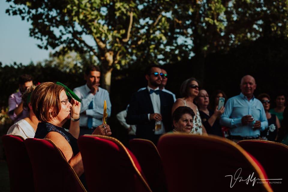 Invitados de la boda en Los Aperos en Navalmoral de la Mata