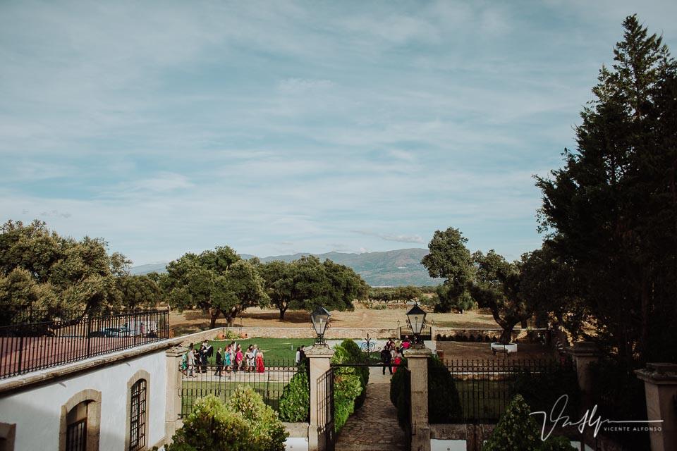Plano aéreo de la ceremonia en la Finca el Torreón de las Veredillas