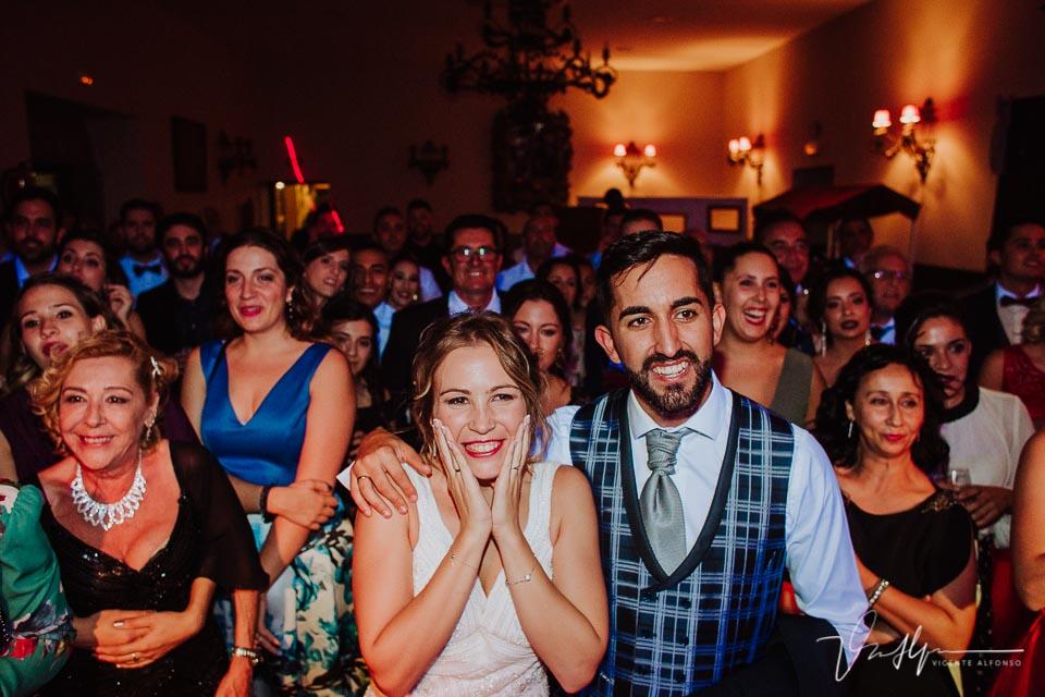 momento final de la boda con todos los invitados