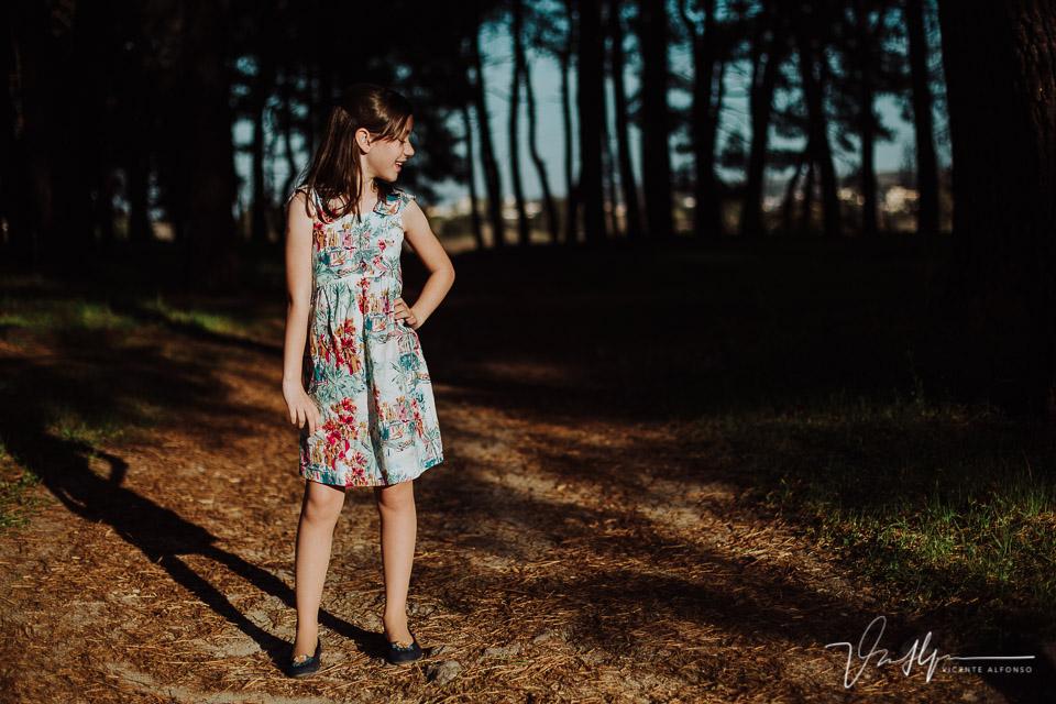 Fotografía de niñas de 9 años