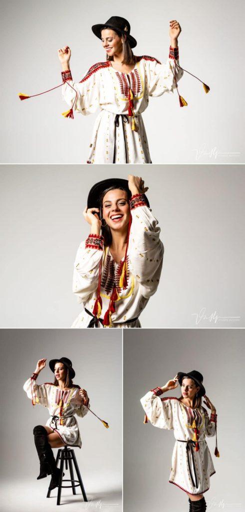 La actriz Clara Alvarado posando en el estudio de Vicente Alfonso en Navalmoral