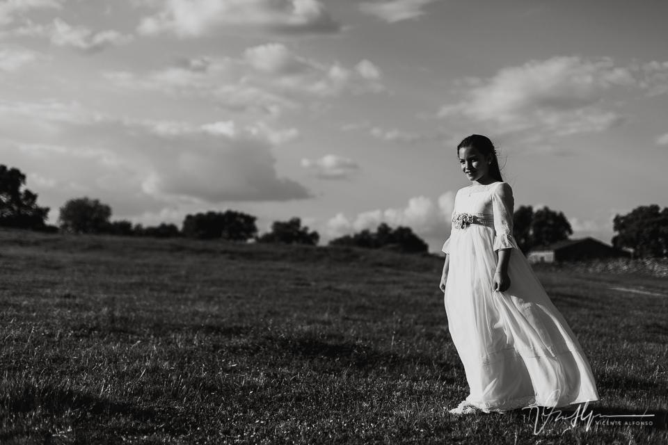 Reportaje de comunión de niña en Casatejada