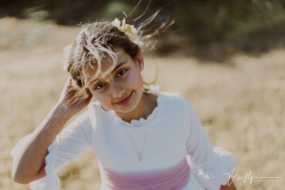 Retrato niña comunión exteriores