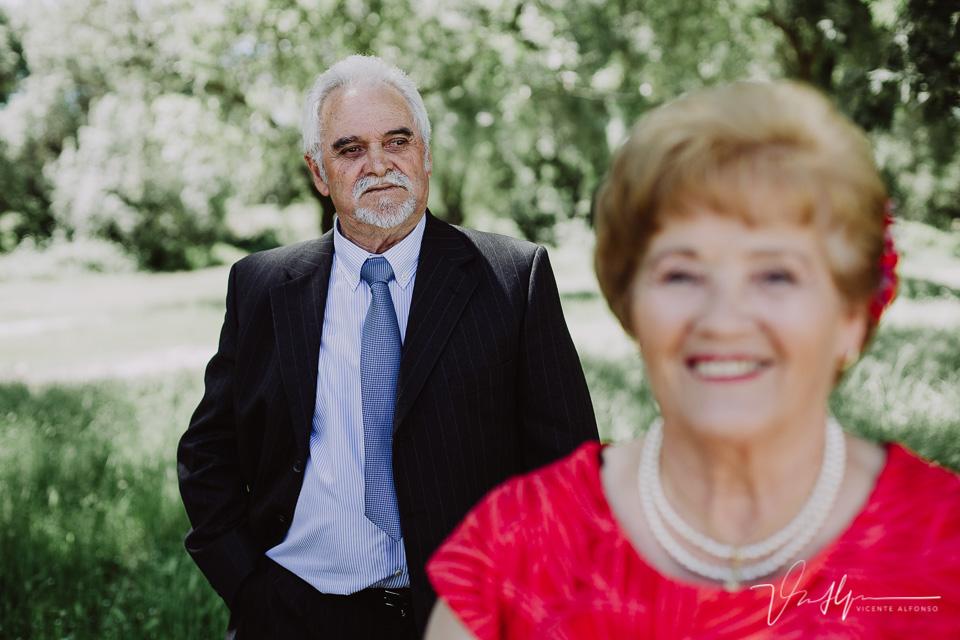 Isidoro y Prudencia en sus bodas de oro