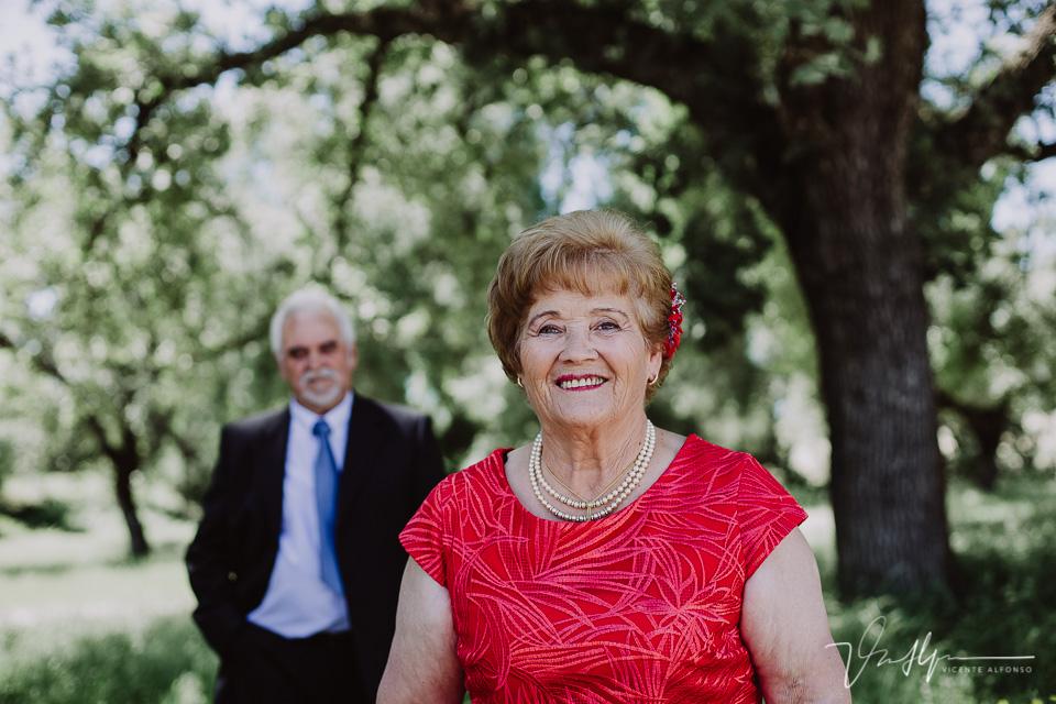Isidoro y Prudencia en sus bodas de oro después de 50 años de casados