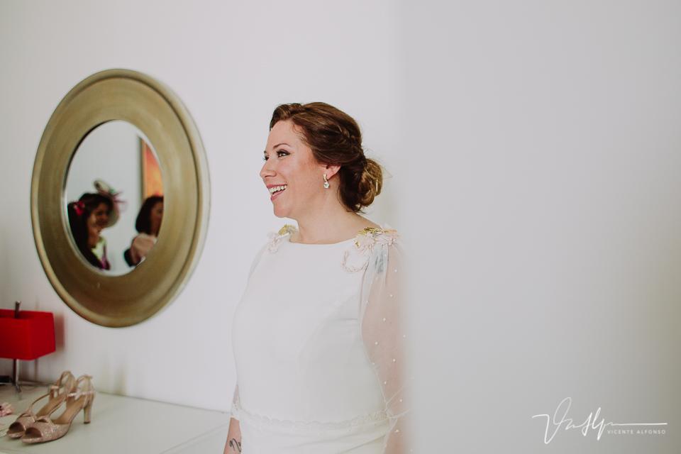 Detalle retrato de la novia