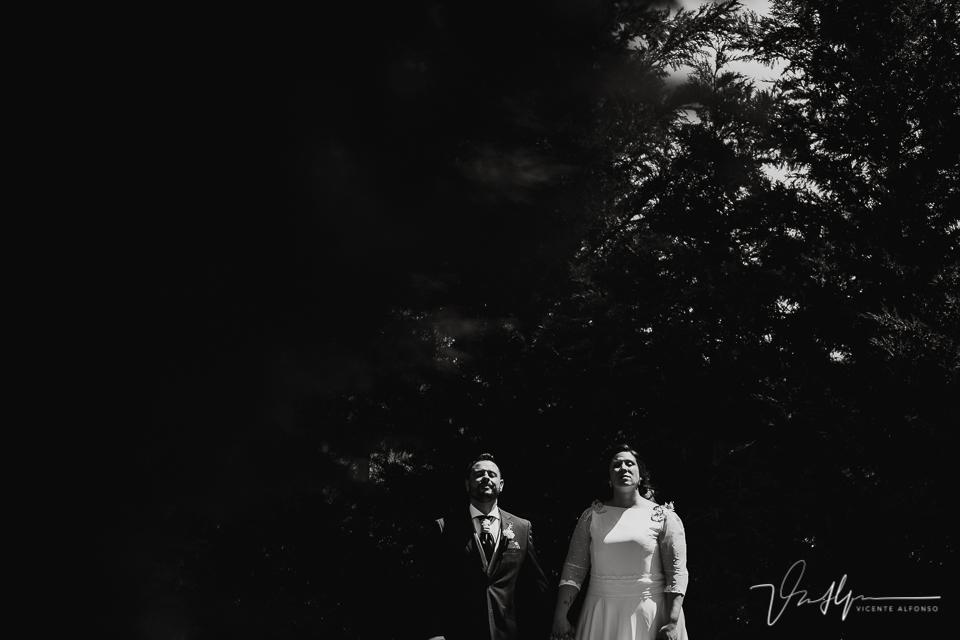 Reportaje de boda de los novios en los salones antonio