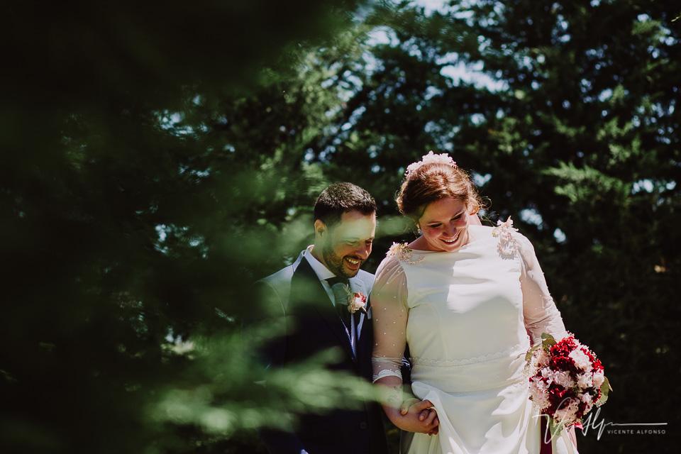 Reportaje de boda de los novios en los salones antonio 7