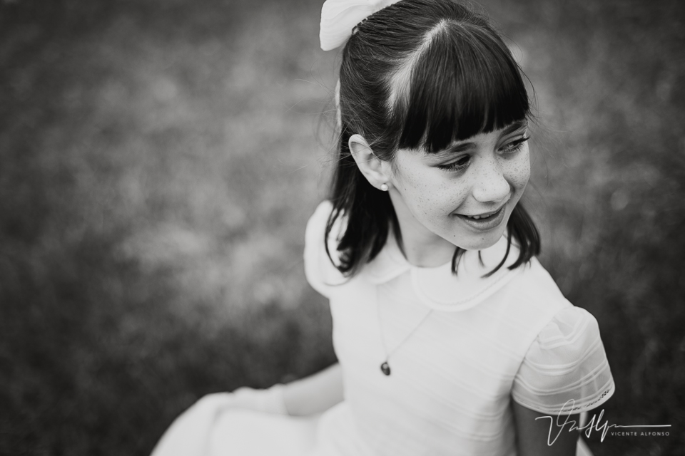 Fotografía de comunión de niña