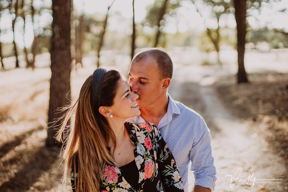 Besos de pareja