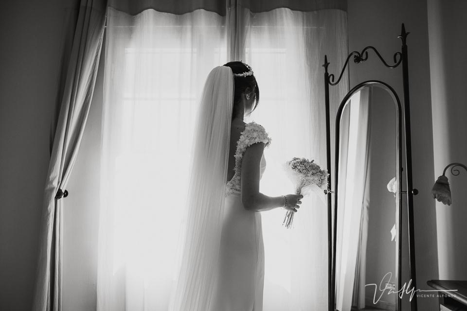 última foto de la novia en la habitación