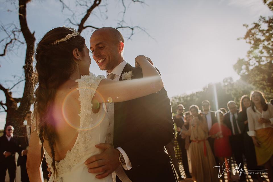 Fotografía del baile de boda en el ruta imperial en exteriores en la vera 01