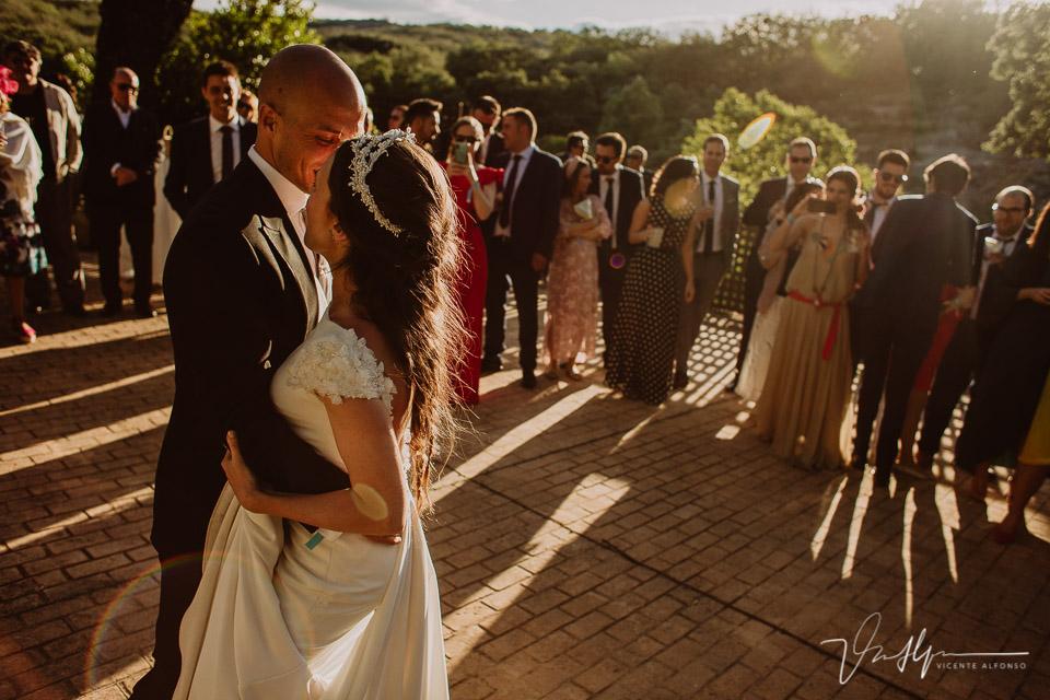 Fotografía del baile de boda en el ruta imperial en exteriores en la vera 02