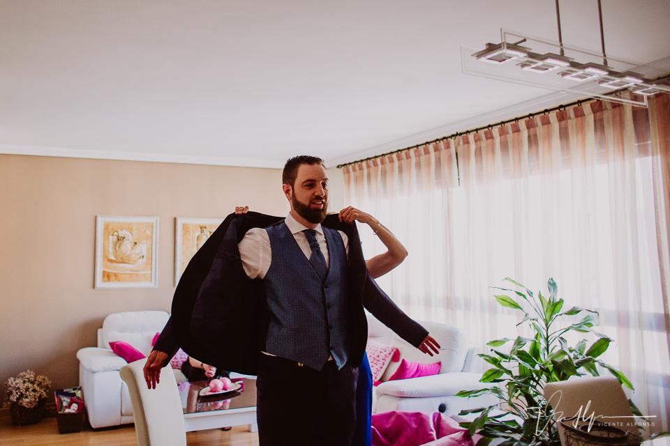 Reportajes de boda casa del novio en Madrid