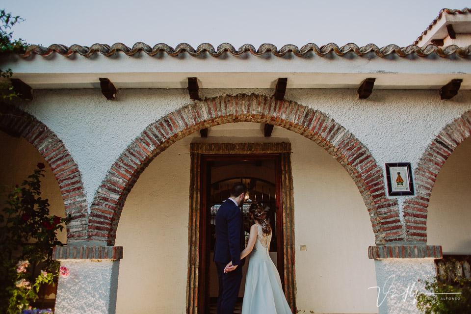 Reportajes de boda en Madrid en la Finca la Alcudia cóctel