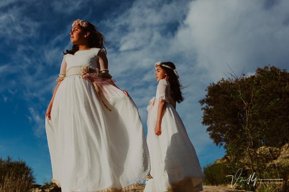Fotografía de gemelas de comunión
