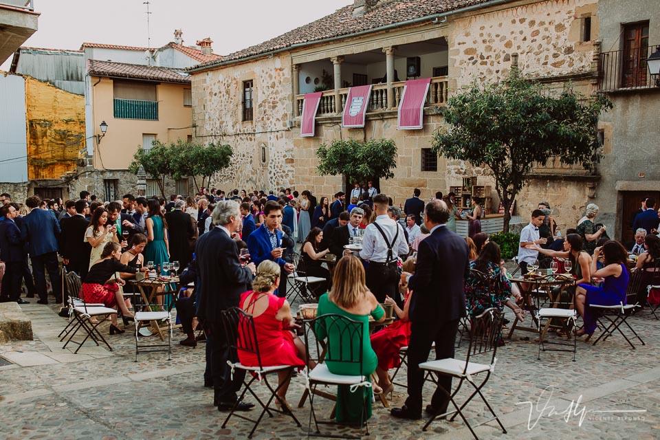 Reportaje boda en el Palacio de los condes de Osorno en Pasarón de la Vera