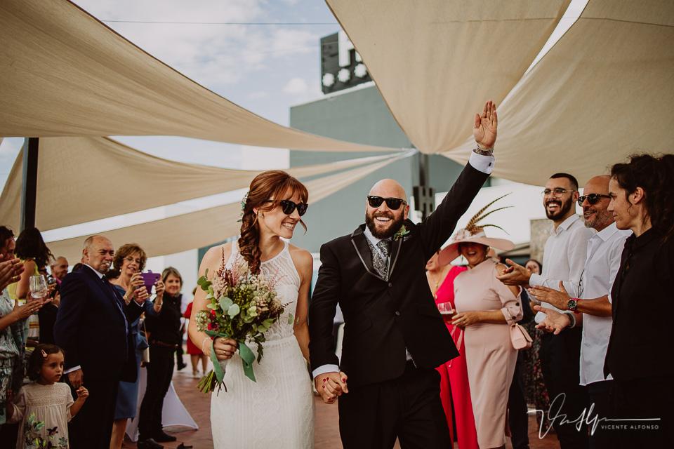Reportajes de boda, llegada al cóctel 03